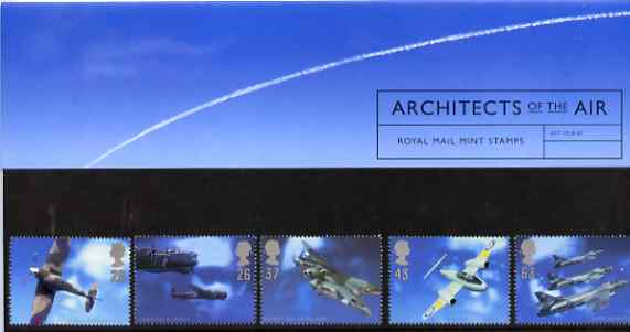 Great Britain 1997 Architects of the Air (Aircraft & Designers) set of 5 in official presentation pack SG 1984-88