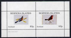 Bernera 1982 Birds #10 perf  set of 2 values (40p & 60p) unmounted mint