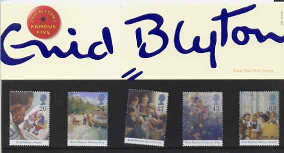 Great Britain 1997 Enid Blyton Children's Stories set of 5 in official presentation pack SG 2001-05