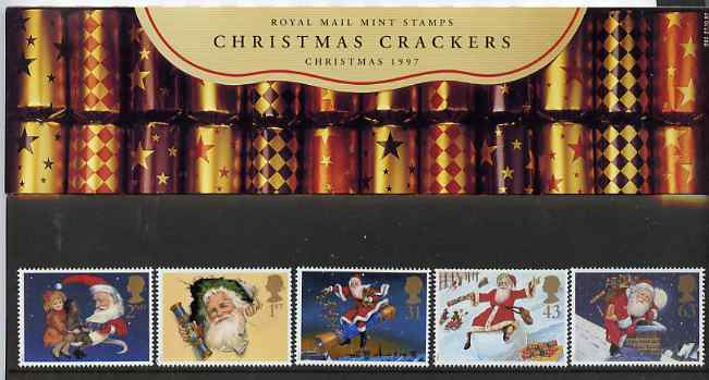 Great Britain 1997 Christmas set of 5 in official presentation pack SG 2006-10