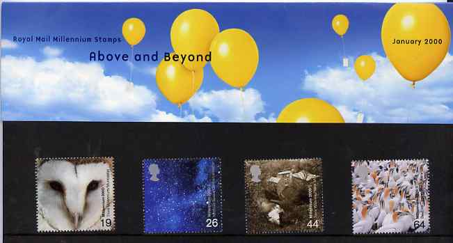 Great Britain 2000 Millennium Projects #01 - Above And Beyond set of 4 in official presentation pack SG 2125-28