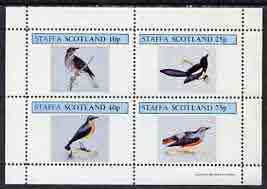 Staffa 1981 Birds #37 perf  set of 4 values (10p to 75p) unmounted mint
