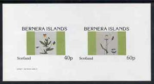 Bernera 1982 Flowers #05 imperf  set of 2 values (40p & 60p) unmounted mint