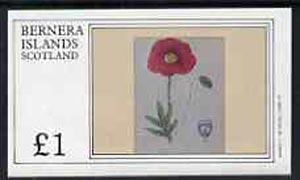 Bernera 1982 Flowers #05 imperf  souvenir sheet (�1 value) unmounted mint