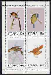 Staffa 1982 Birds #39 (Blue Tit, Long-tailed Tit, etc) perf set of 4 values (10p to 75p) unmounted mint