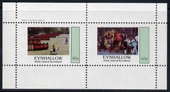 Eynhallow 1982 Soldiers (Trooping the Colour & Coronation Coach) perf  set of 2 values (40p & 60p) unmounted mint