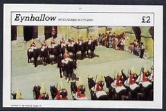 Eynhallow 1982 Soldiers (Horseguards Parade) imperf  deluxe sheet (�2 value) unmounted mint, stamps on militaria       royalty    police