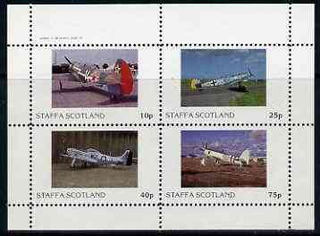 Staffa 1982 WW2 Aircraft #2 perf set of 4 values unmounted mint