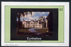 Eynhallow 1982 Royal Residences (Balmoral Castle) imperf  deluxe sheet (�2 value) unmounted mint