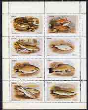 Staffa 1973 Fish #01 (Ruff, Carp, Barbel, Roach etc) perf  set of 8 values (1p to 15p) unmounted mint