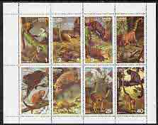 Staffa 1977 Wild Animals (Monkeys, Ocelot, etc) perf set of 8 values unmounted mint
