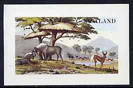 Nagaland 1972 African Wild Animals imperf souvenir sheet (1ch value) unmounted mint