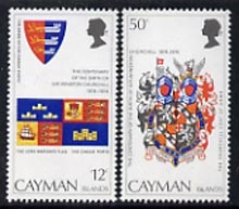 Cayman Islands 1974 Churchill Birth Centenary (Arms) unmounted mint set of 2, SG 380-81