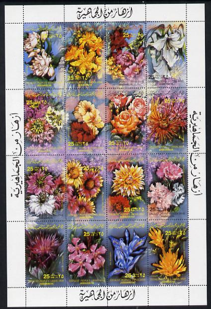 Libya 1983 Flowers set of 16 unmounted mint, SG 1238-53
