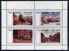 Eynhallow 1982 Paintings of Mail Coaches perf  set of 4 values (10p to 75p) unmounted mint