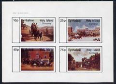 Eynhallow 1982 Paintings of Mail Coaches imperf  set of 4 values (10p to 75p) unmounted mint