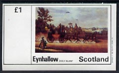 Eynhallow 1982 Paintings of Mail Coaches imperf  souvenir sheet (�1 value) unmounted mint