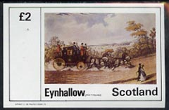 Eynhallow 1982 Paintings of Mail Coaches imperf  deluxe sheet (�2 value) unmounted mint