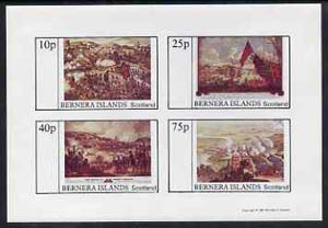 Bernera 1981 Paintings of Battles imperf  set of 4 values (10p to 75p) unmounted mint