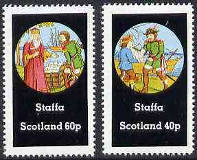 Staffa 1982 Fairy Tales (Admiral with Cat & Kings Treasure) perf  set of 2 values (40p & 60p) unmounted mint