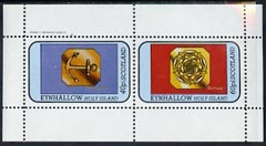 Eynhallow 1982 Hallmarks (Birmingham Anchor & Sheffield Rose) perf  set of 2 values (40p & 60p) unmounted mint