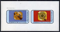 Eynhallow 1982 Hallmarks (Birmingham Anchor & Sheffield Rose) imperf  set of 2 values (40p & 60p) unmounted mint