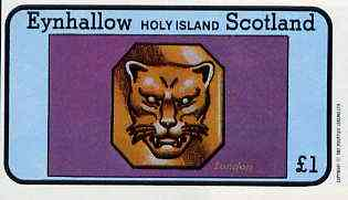 Eynhallow 1982 Hallmarks (London Leopard) imperf  souvenir sheet (�1 value) unmounted mint