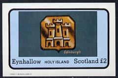 Eynhallow 1982 Hallmarks (Edinburgh Castle) imperf  souvenir sheet (�1 value) unmounted mint