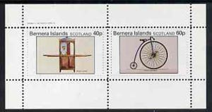 Bernera 1982 Transport (Sedan Chair & Penny Farthing Bicycle) perf  set of 2 values (40p & 60p) unmounted mint