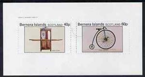 Bernera 1982 Transport (Sedan Chair & Penny Farthing Bicycle) imperf  set of 2 values (40p & 60p) unmounted mint