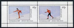 Eynhallow 1981 Skiing perf  set of 2 values (40p & 60p) unmounted mint