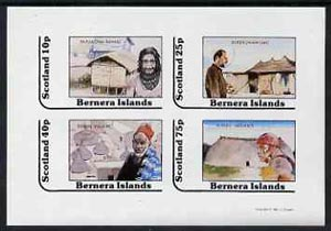 Bernera 1981 Cultures (Papua, Kurds, Dogon & Xingu) imperf  set of 4 values (10p to 75p) unmounted mint