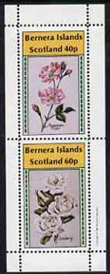 Bernera 1981 Roses (American Pillar & Iceberg) perf  set of 2 values (40p & 60p) unmounted mint