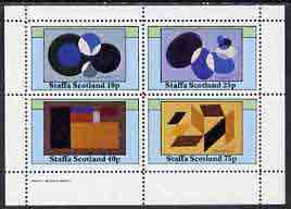 Staffa 1982 Modern Art (Shapes) perf set of 4 values (10p to 75p) unmounted mint
