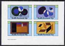 Staffa 1982 Modern Art (Shapes) imperf set of 4 values (10p to 75p) unmounted mint