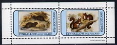 Eynhallow 1981 Animals #04 (Water Rat & Red Squirrel) perf set of 2 values (40p & 60p) unmounted mint