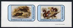 Eynhallow 1981 Animals #04 (Water Rat & Red Squirrel) imperf set of 2 values (40p & 60p) unmounted mint