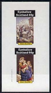 Eynhallow 1982 Religious Paintings imperf  set of 2 values (40p & 60p) unmounted mint