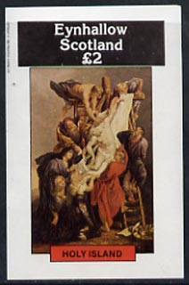 Eynhallow 1982 Religious Paintings imperf  deluxe sheet (�2 value) unmounted mint
