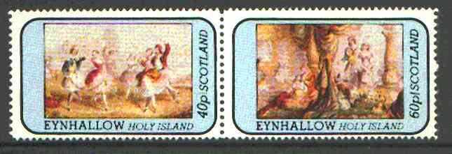 Eynhallow 1981 Romantic Theatre perf  set of 2 values (40p & 60p) unmounted mint