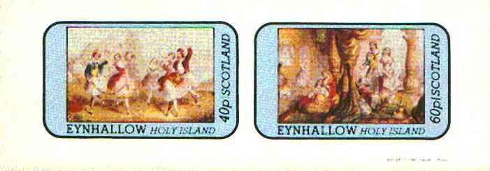Eynhallow 1981 Romantic Theatre imperf  set of 2 values (40p & 60p) unmounted mint