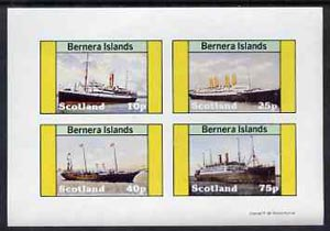 Bernera 1981 Liners imperf set of 4 values (10p to 75p) unmounted mint