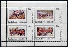 Eynhallow 1981 Military Uniforms perf set of 4 values (10p to 75p) unmounted mint