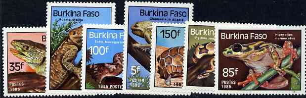 Burkina Faso 1985 Reptiles & Amphibians complete set of 7 unmounted mint, SG 773-79, Mi 1005-11*