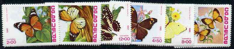 Cape Verde Islands 1982 Butterflies unmounted mint set of 6, SG 534-39, Mi 467-72*