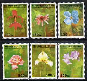 Guinea - Conakry 1995 Flowers complete unmounted mint set of 6 values, Mi 1548-53*
