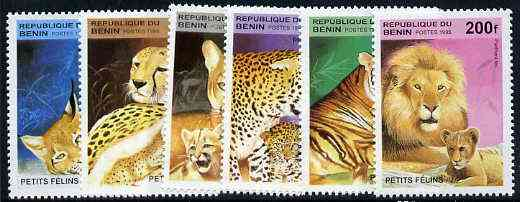 Benin 1995 Big Cats & Their Young complete set of 6, SG 1333-38,  Mi 704-09 unmounted mint*