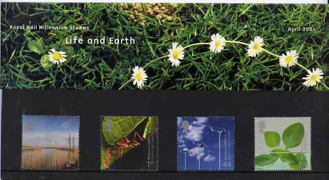 Great Britain 2000 Millennium Projects #04 - Life And Earth set of 4 in official presentation pack SG 2138-41