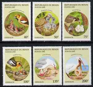 Benin 1995 Birds & Their Young complete set of 6, SG 1321-26, Mi 685-90 unmounted mint*