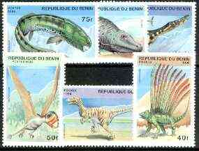 Benin 1996 Prehistoric Animals complete set of 6 unmounted mint, Mi 836-41*